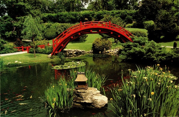 Moon Bridge Japanese Garden The Huntington Gardens Postcard